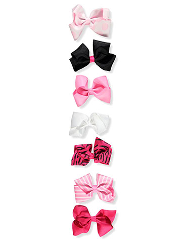 Expressions Girls' 7-Pack Hair Bows - CookiesKids.com
