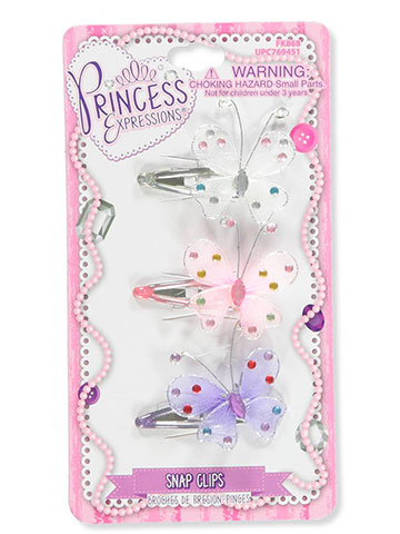 Princess Expressions Girls' 3-Pack Hair Clips - CookiesKids.com