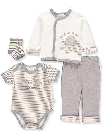 Duck Duck Goose Baby Boys' 4-Piece Layette Set - CookiesKids.com