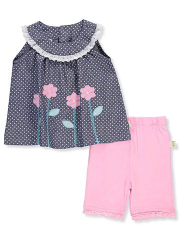 Duck Duck Goose Baby Girls' 2-Piece Short Set Outfit - CookiesKids.com
