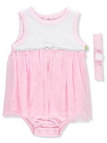 Duck Duck Goose Baby Girls' Dress/Bodysuit Combo with Headband - CookiesKids.com