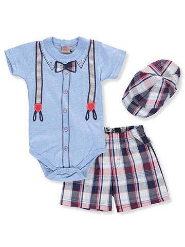 DDG Sport Baby Boys' 2-Piece Short Set Outfit with Hat - CookiesKids.com