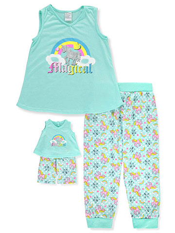 BFF & Me Girls' 2-Piece Pajama Pants Set with Doll Pajamas - CookiesKids.com