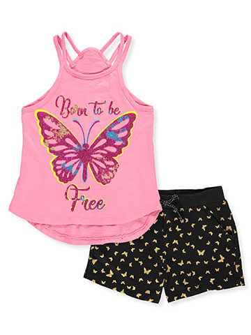 Real Love Girls' 2-Piece Short Set Outfit - CookiesKids.com