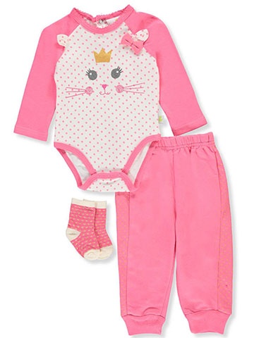 Duck Duck Goose Baby Girls' 3-Piece Layette Set - CookiesKids.com