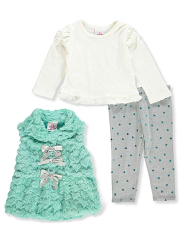 Real Love Baby Girls' 3-Piece Leggings Set Outfit - CookiesKids.com