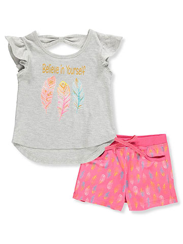 e00b6ecb5 Real Love Girls' 2-Piece Shorts Set Outfit