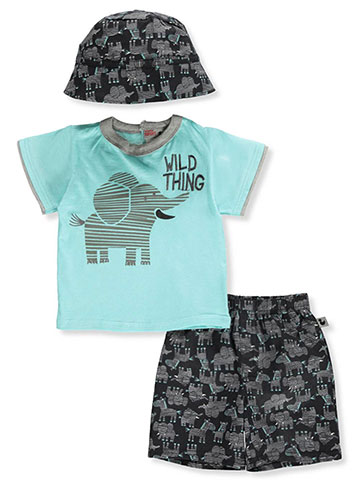 DDG Sport Baby Boys' 2-Piece Shorts Set Outfit with Hat - CookiesKids.com