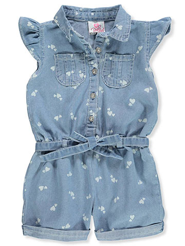 Real Love Girls' Belted Romper - CookiesKids.com