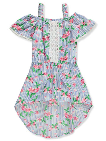 Real Love Girls' Cold Shoulder Walk-Thru Romper - CookiesKids.com