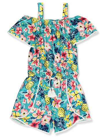 Real Love Girls' Cold Shoulder Romper - CookiesKids.com