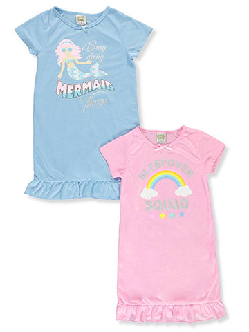 Sweet n Sassy Nightgown Girls' 2-Pack Nightgowns - CookiesKids.com