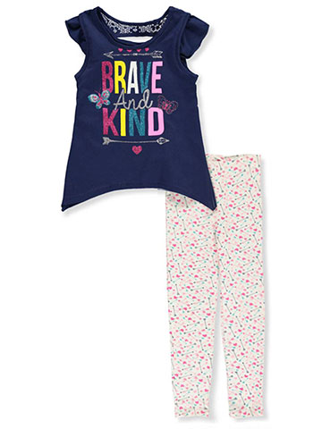 Real Love Girls' 2-Piece Leggings Set Outfit - CookiesKids.com