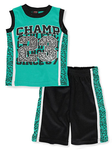 Mad Game Boys' 2-Piece Shorts Set Outfit - CookiesKids.com