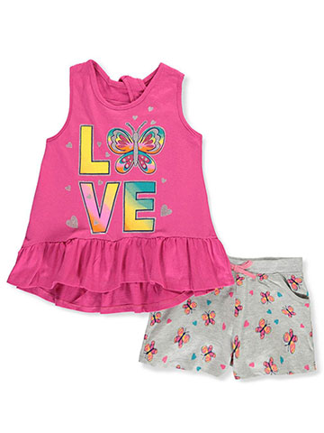 Real Love Girls' 2-Piece Shorts Set Outfit - CookiesKids.com