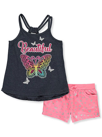 8a778a61804 Real Love Girls  2-Piece Shorts Set Outfit - CookiesKids.com