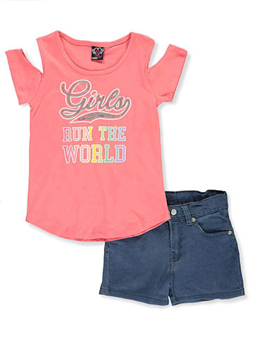9570df43fa Real Love Girls  2-Piece Shorts Set Outfit - CookiesKids.com