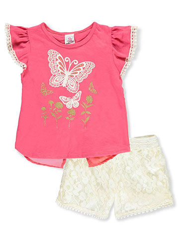 39084a624f0 Real Love Girls  2-Piece Shorts Set Outfit - CookiesKids.com