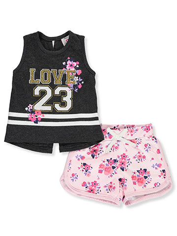 81075f214 Real Love Baby Girls' 2-Piece Shorts Set Outfit - CookiesKids.com