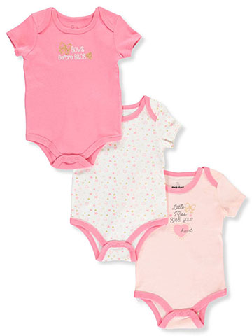 6cddfb7b51b7 Duck Duck Goose Baby Girls' 3-Pack Bodysuits