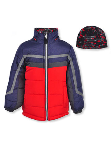 London Fog Boys' Insulated Jacket with Beanie - CookiesKids.com
