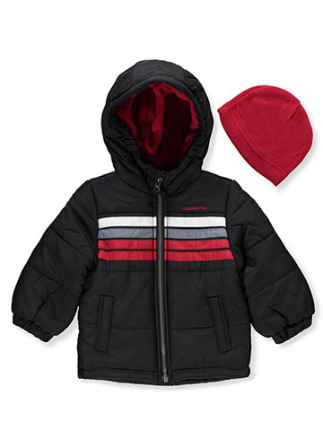 London Fog Baby Boys' Insulated Jacket with Beanie - CookiesKids.com