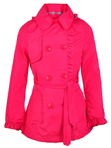 London Fog Girls' Hooded Trench Coat - CookiesKids.com