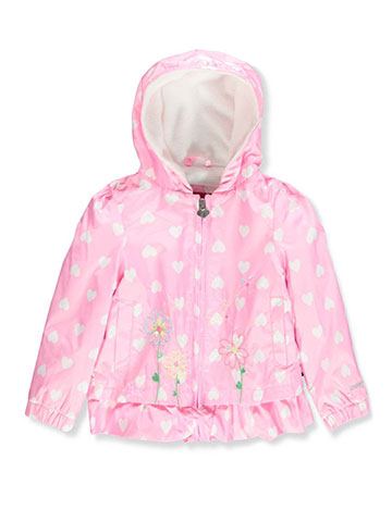 London Fog Baby Girls' Hooded Rain Jacket - CookiesKids.com