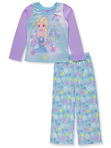 Disney Frozen Girls' 2-Piece Pajamas Featuring Elsa - CookiesKids.com