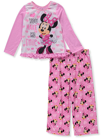 Disney Minnie Mouse Girls' 2-Piece Pajamas - CookiesKids.com