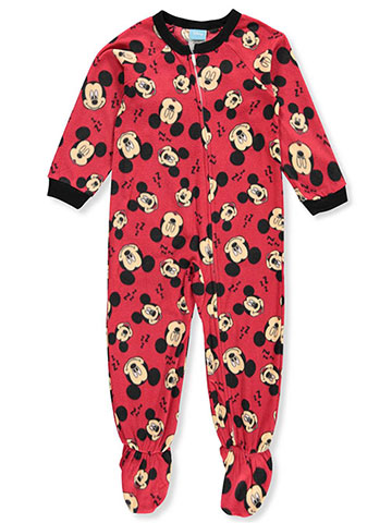 Disney Mickey Mouse Boys' 1-Piece Footed Pajamas - CookiesKids.com