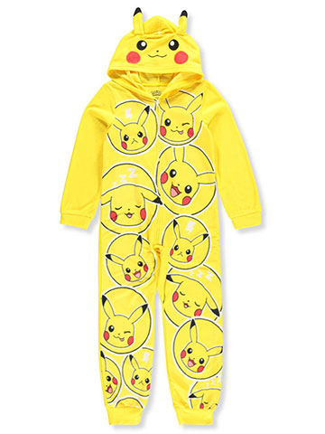 Pokemon Boys' 1-Piece Hooded Pajamas - CookiesKids.com