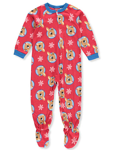 Rudolph the Red-Nosed Reindeer Boys' 1-Piece Footed Pajamas - CookiesKids.com