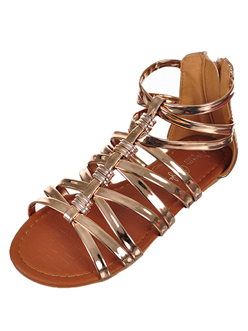 Jessica Carlyle Girls' Gladiator Sandals (Sizes 10 – 4) - CookiesKids.com