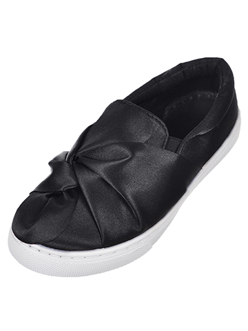Jessica Carlyle Girls' Slip-On Sneakers (Sizes 10 – 4) - CookiesKids.com
