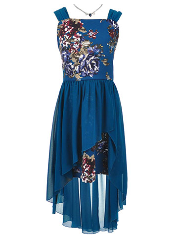 Amy Byer Girls' Plus Size Walk-Thru Dress with Necklace - CookiesKids.com
