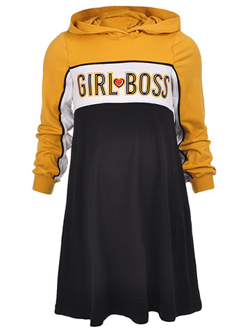 1st Kiss Girls' L/S Hooded Dress - CookiesKids.com