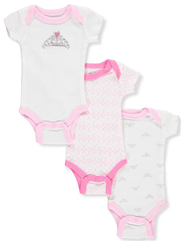 Luvable Friends' Baby Girls' 3-Pack Preemie Bodysuits - CookiesKids.com