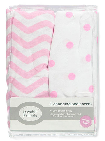 Luvable Friends 2-Pack Changing Pad Covers - CookiesKids.com