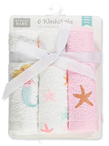 Hudson Baby 6-Pack Terry Washcloths - CookiesKids.com