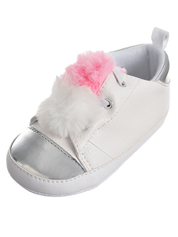 First Steps by Stepping Stones Baby Girls' Sneaker Booties (Sizes 2 – 4) - CookiesKids.com
