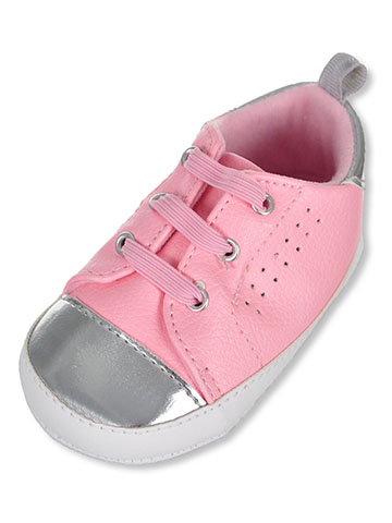 First Steps by Stepping Stones Baby Girls' Sneaker Booties - CookiesKids.com