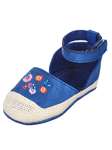 First Steps by Stepping Stones Baby Girls' Espadrille Sandal Booties - CookiesKids.com