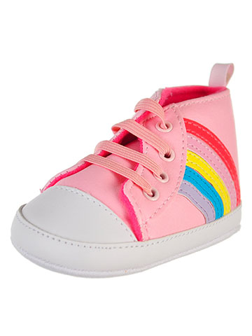 First Steps by Stepping Stones Baby Girls' Hi-Top Sneakers - CookiesKids.com