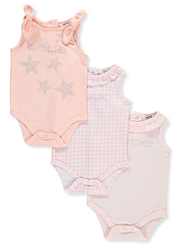 Bebe Baby Girls' 3-Pack Bodysuits - CookiesKids.com