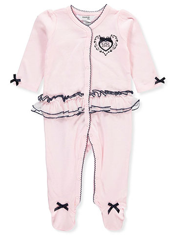 Bebe Baby Girls' Footed Coverall - CookiesKids.com