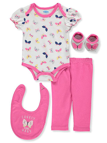 Bon Bebe Baby Girls' 4-Piece Layette Set - CookiesKids.com
