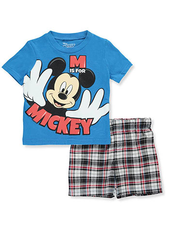 Disney Mickey Mouse Baby Boys' 2-Piece Short Set Outfit - CookiesKids.com