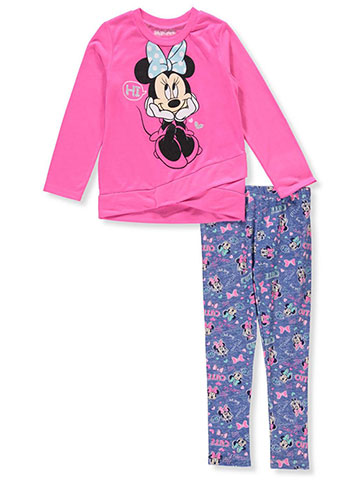 Disney Minnie Mouse Girls' 2-Piece Leggings Set Outfit - CookiesKids.com
