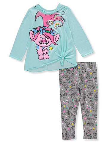 Trolls Girls' 2-Piece Leggings Set Outfit - CookiesKids.com
